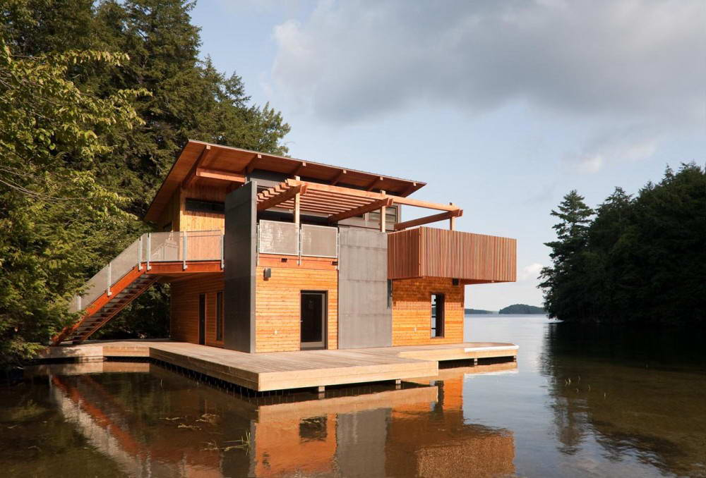 Maison sur un lac par « Christopher Simmonds Architect ...