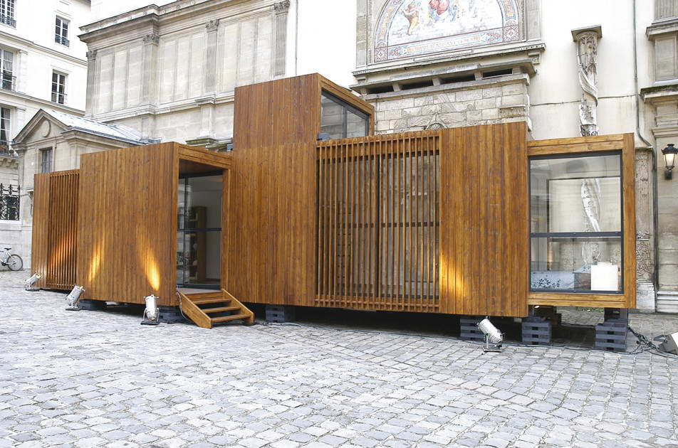 Maison modulaire en france par d3 architects for Maison container suisse