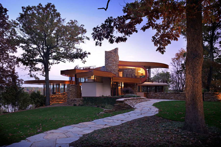 <strong>Résidence « Chenequa » par « Robert Harvey Oshatz Architect », Etats-Unis<span><b>Architecture</span></strong><i>→</i>