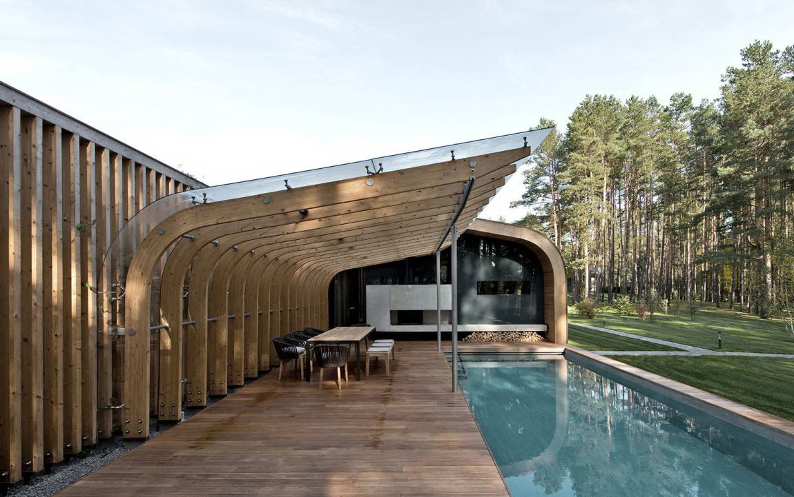 <strong>Villa G en Lithuanie d'Audrius Ambrasas Architects.<span><b>in</b>Architecture</span></strong><i>→</i>